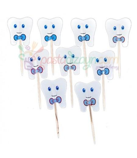 Mavi Renk Diş Kürdanlar,10 Adet