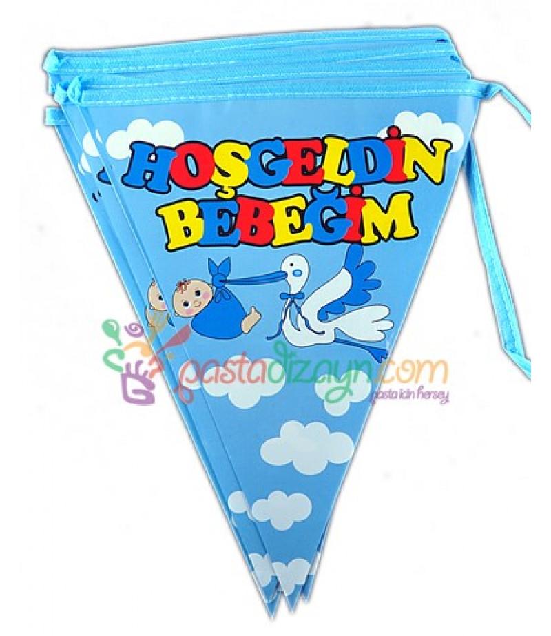 Mavi Hoşgeldin Bebek Flamalar,Paket