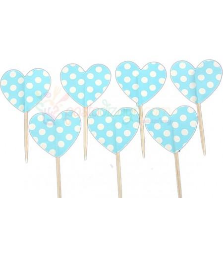 Mavi Renk Kalpli Kürdanlar,10 Adet