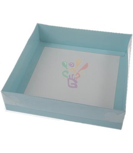 Mavi Renk Asetat Kutular,20x20x5cm,Adet