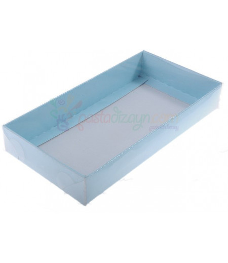 Mavi Renk Asetat Kutular,10x20x3cm,5 Adet