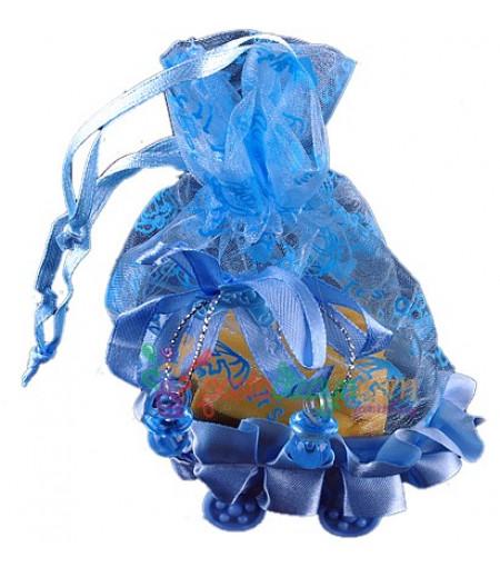 Mavi Renk Bebek Arabalı Çanta,10 Adet