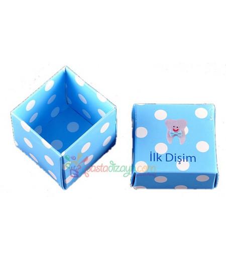 Mavi Renk Diş Sunum Kutuları,10 Adet