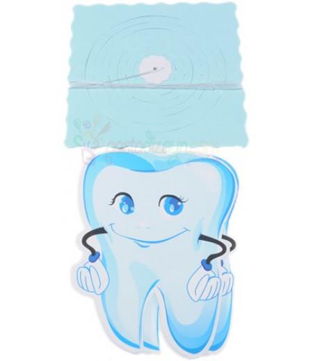 Mavi Renk Diş Temalı Asma Fener