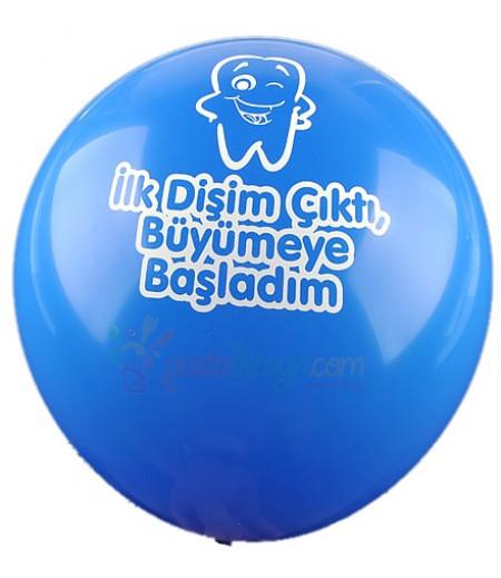 Mavi Renk Dişim Çıktı Balonlar,12 Adet