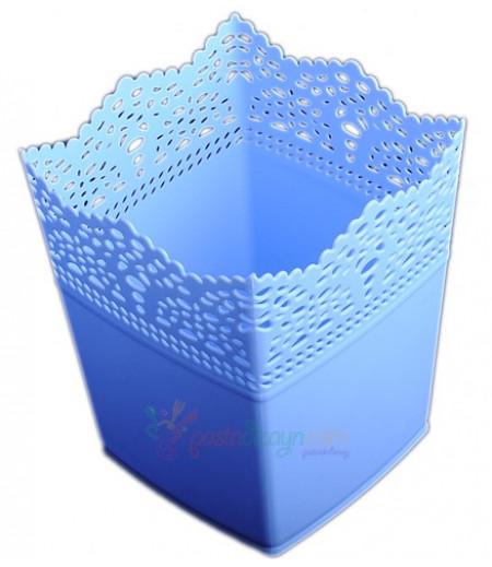 Mavi Renk Kare Plastik Sunum Kovası