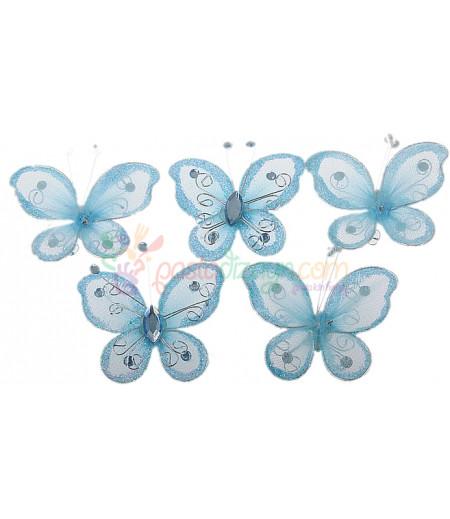 Mavi Renk Kelebek,Motifli Süslemeler