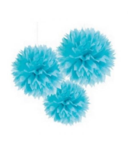 Mavi Renk Küçük Boy Ponpon,Adet