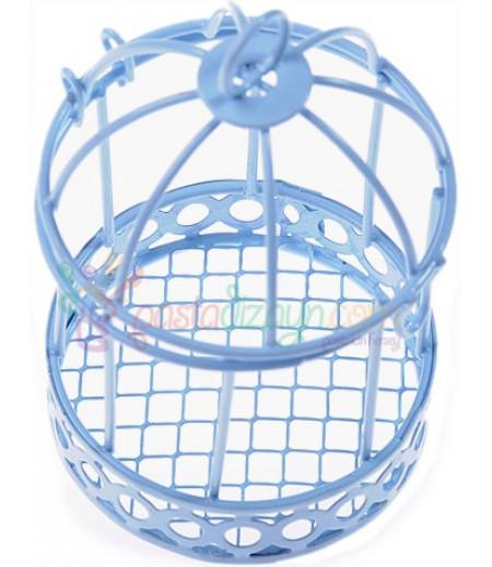 Mavi Renk Kuş Kafesi Sunum Süslemesi,Adet