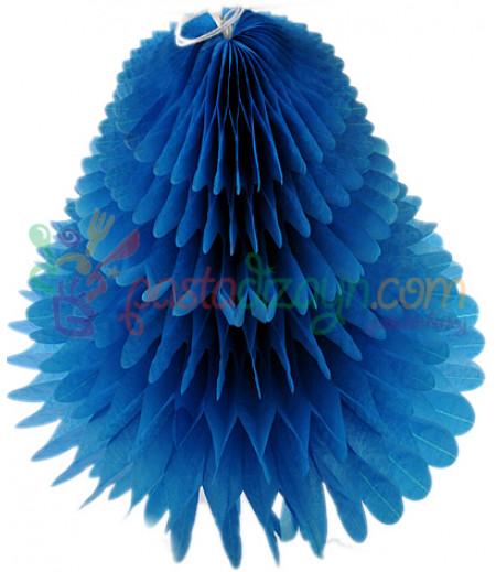Mavi Renk Petek Üçgen Asma Süs,30cm