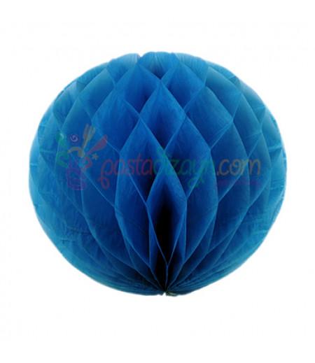 Mavi Renk Petek Parti Süslemesi,15cm