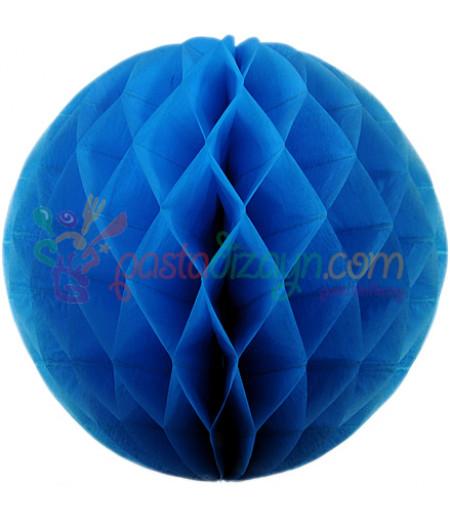 Mavi Renk Petek Parti Süslemesi,30cm