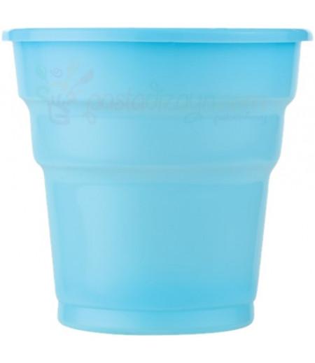 Mavi Renk Plastik Bardaklar,25 adet