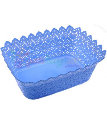 Mavi Renk Plastik Sunum Sepeti