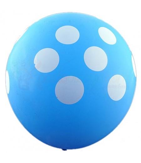 Mavi Renk,Puantiyeli Balon Seti,12 Adet