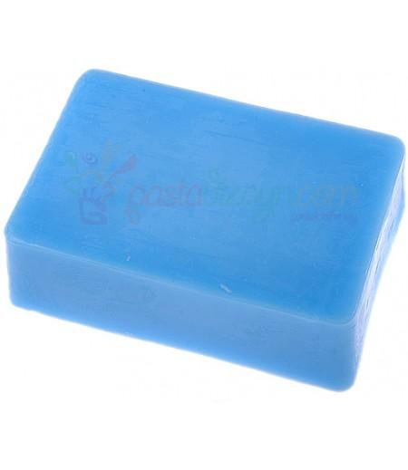 Opak Mavi Renk Sabun Bazı,1Kg