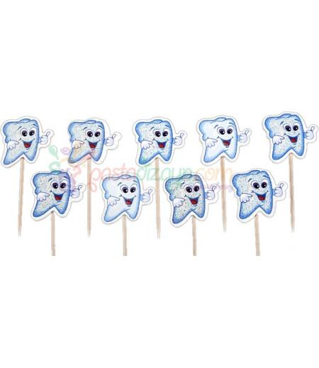 Mavi Renk Simli Diş Kürdanlar,10 Adet