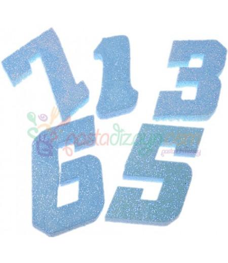 Mavi Renk Simli Strafor Sayılar,Adet