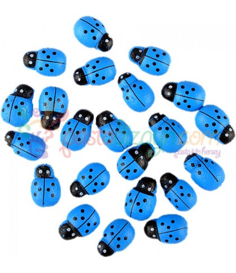 Mavi Renk Uğur Böceği,50 Adet