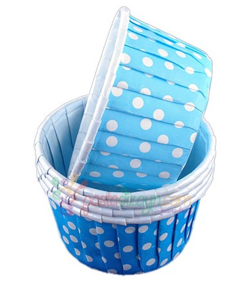 Mavi Renk Yağlı,Puantiyeli Kapsüller,25 Adet