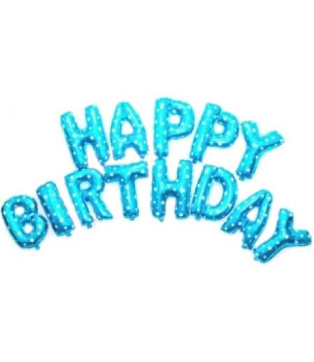 Mavi Renkli Happy Birthday Yazılı Folyo Balonlar