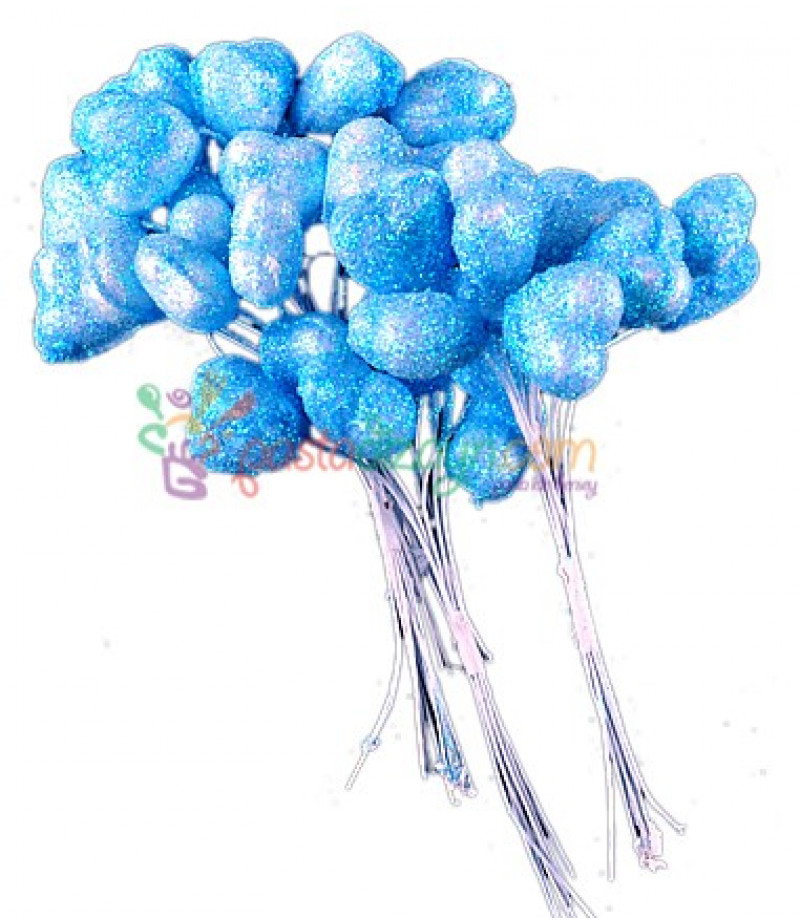 Mavi Simli,Kalpli Süsleme Telleri