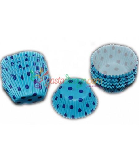 Mavi,Mavi Puantiyeli Kek Kapsülü