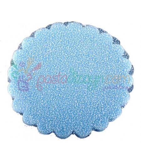 Mavi,Simli Süsleme Tülü,100 Adet