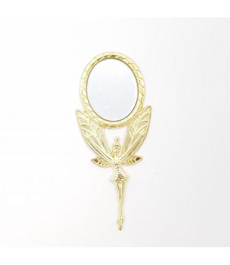 Melek Figürlü Hediyelik Metal Ayna Altın