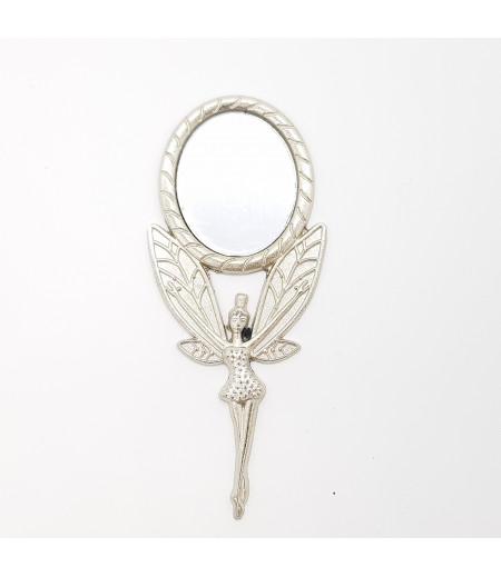 Melek Figürlü Hediyelik Metal Ayna Gümüş