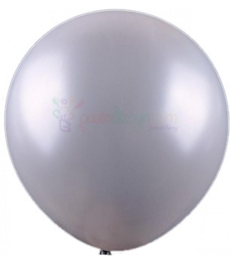 Gümüş Rengi Metalik Balonlar,12 Adet