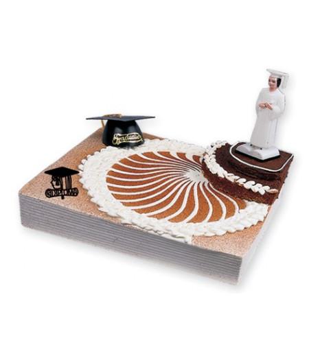 Mezuniyet Pasta Süsü (1 Figür,1 Kep,2 Diplama Plaketi)