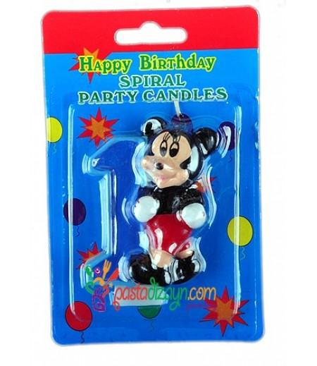 Mickey Mouse 1 Yaş Mumu