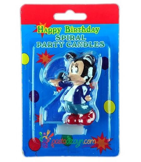 Mickey Mouse 2 Yaş Mumu
