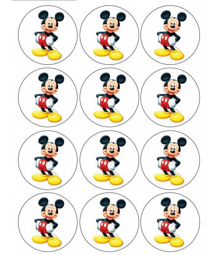 Mickey Mouse Kurabiye İçin Gofret Kağıdı İle Baskı