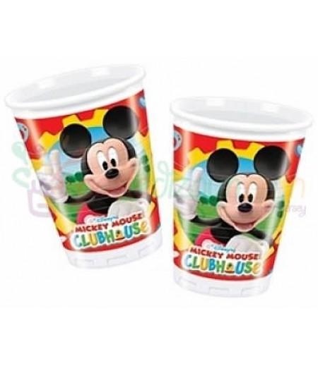 Mickey Mouse Görselli Bardaklar,8 adet