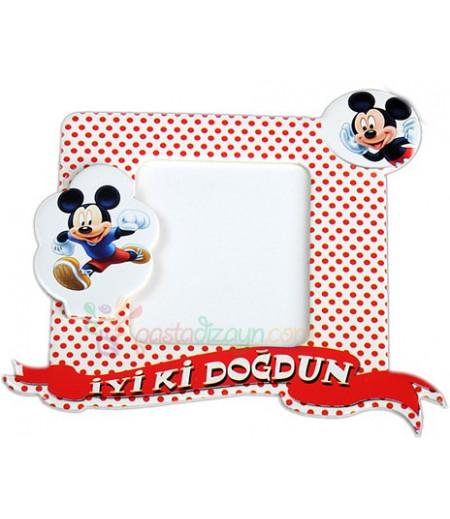 Mickey Mouse Temalı Magnetli Fotoğraf Çerçevesi,Adet