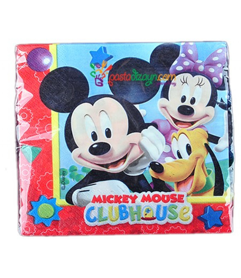 Mickey Mouse Temalı Peçeteler