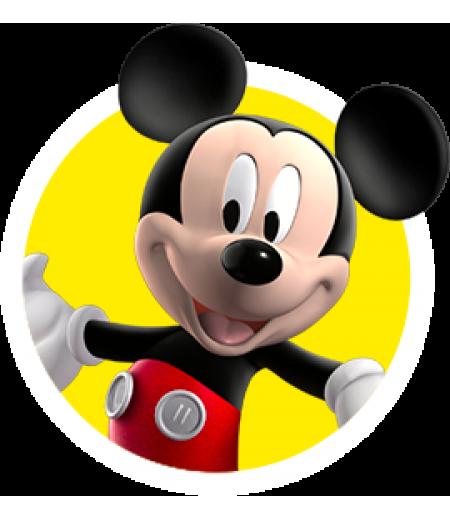 Mickey Mouse Yuvarlak Şeker Hamuru Kağıdı İle Baskı