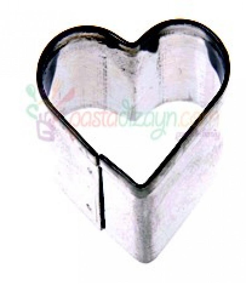 Minik Kalp Kurabiye Kalibi Metal Sekillendiriciler