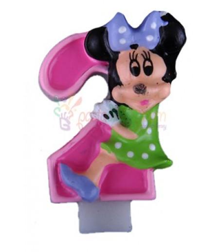Minnie Mouse 2 Yaş Mumu