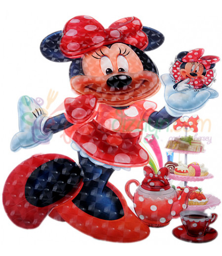 Minnie Mouse 5 Boyutlu Duvar,Kapı Süsü