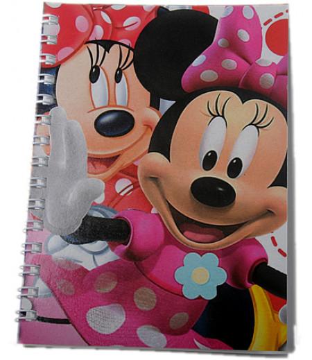 Minnie Mouse Çizgili Hediyelik Mini Not Defteri