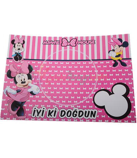 Minnie Mouse Amerikan Servis Seti,10 Adet