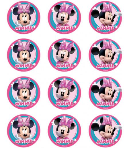 Minnie Mouse Kurabiye Şeker Hamuru Kağıdı İle Baskı
