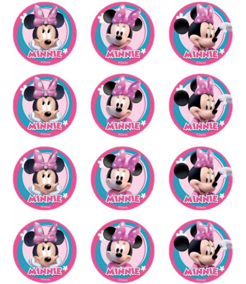 Minnie Mouse Kurabiye İçin Gofret Kağıdı İle Baskı
