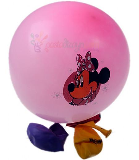 Minnie Mouse Renkli Balon Seti,12 Adet