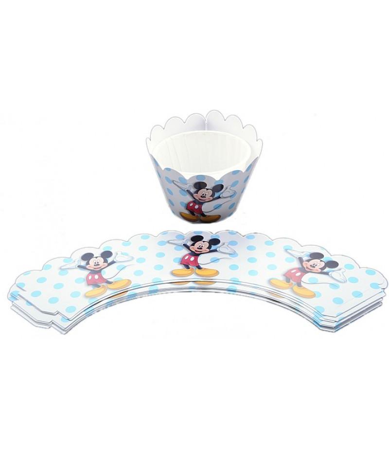 Minnie,Mickey Mouse Muffin Kenar Dantel,10 Adet