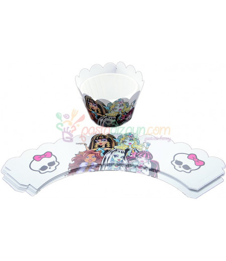Monster High Muffin Kenar Dantel,10 Adet