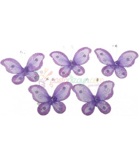 Mor Renk Kelebek,Motifli Süslemeler